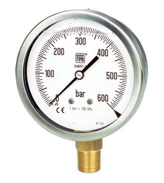Manometri DN100 scala 0-6 Bar Nuova Fima MGS10