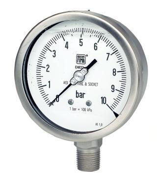Manometro Tutto Inox DN100 range 0-1000 Bar Nuova Fima MGS18