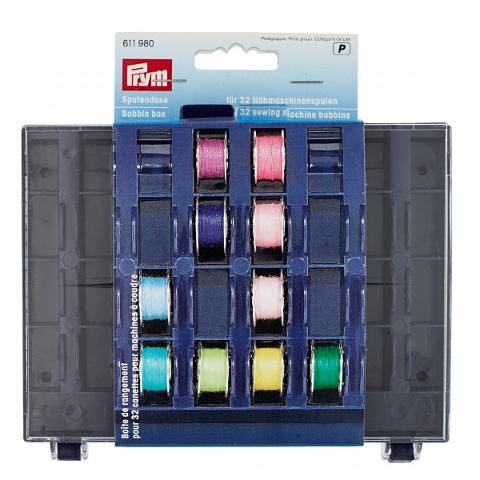Scatola per 32 bobine per macchine da cucire Prym Scatola per 32 bobine per macchine da cucire