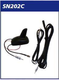 Antenna AMPLIFICATA a pinna AM_FM_GSM+Cavo DIN Cm 450 MECATRON