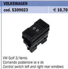 PULSANTE  POSTERIORE SINISTRO/DESTRO Tipo VW GOLF 3 - POLITECNICA 80