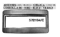 MASCHERINA RADIO AVENSIS/VERSO/CELICA/COROLLA SILVE MECATRON