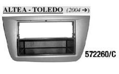 MASCHERINA RADIO ISO SEATToledo 04>,Altea 11> Grigia MECATRON