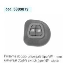 PULSANTE ALZAVETRI DOPPIO UNIVERSALE Tipo VOLKSWAGEN POLITECNICA 80