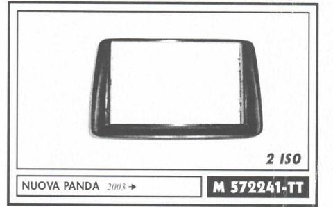 MASCHERINA  AUTORADIO DOPPIO DIN PANDA DA 003><011  MECATRON