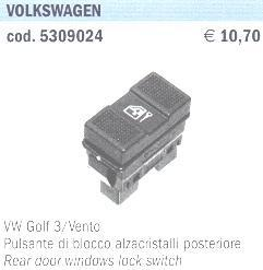 PULSANTI BLOCCO ALZAVETRI POSTERIORI Tipo VW GOLF 3-V POLITECNICA 80