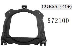 COPPIA SUPPORTI ALTOPARLANTI POST130mm  CORSA 93>0 6 MECATRON