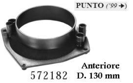 SUPPORTI ADATTATORI ALTOPARLPOST.FIAT PUNTO 99>130mm MECATRON