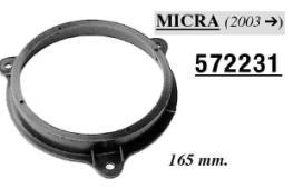 SUPPORTI ALTOPARLANTI ANT. NISSAN MICRA 2003> 165MM MECATRON