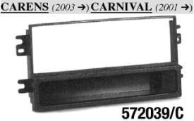 MASCHERINA NERA RADIO ISO KIA Carens 03>Carnival 01> MECATRON