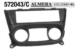 MASCHERINA NERA AUTORADIO ISO NISSAN Almera '00> MECATRON