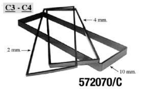 KIT3 CORNICI ADATTATORI VANO AUTORADIO 2-4-10 mm  MECATRON
