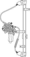 ALZAV. ELETTR  VW GOLF 2 JETTA ANT.SX  11/83>06/87   POLITECNICA 80