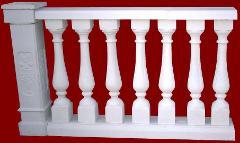Balaustra completa di pilastro M.C.G. ART. 005