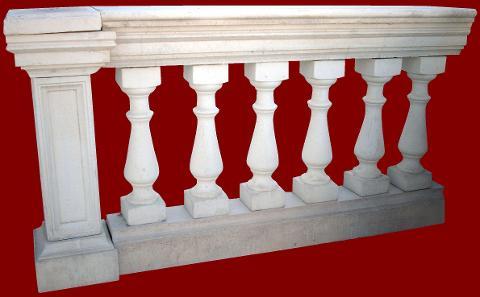 Balaustra completa di pilastro M.C.G. ART. 006