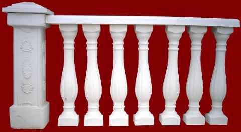 Balaustra completa di pilastro M.C.G. ART. 007