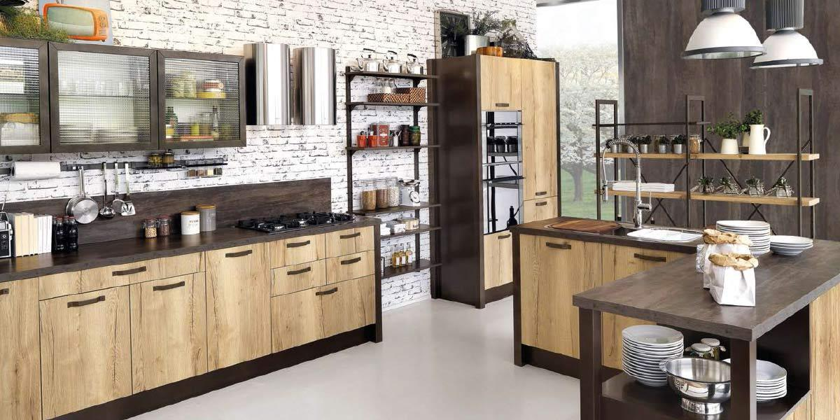 Cucina componibile industrial Creo Kitchens Kira
