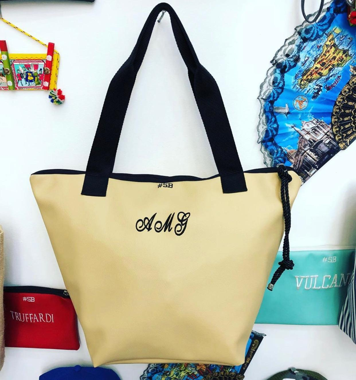 Shopping bag - Chapelier SocialBag Ecopelle - Pastello
