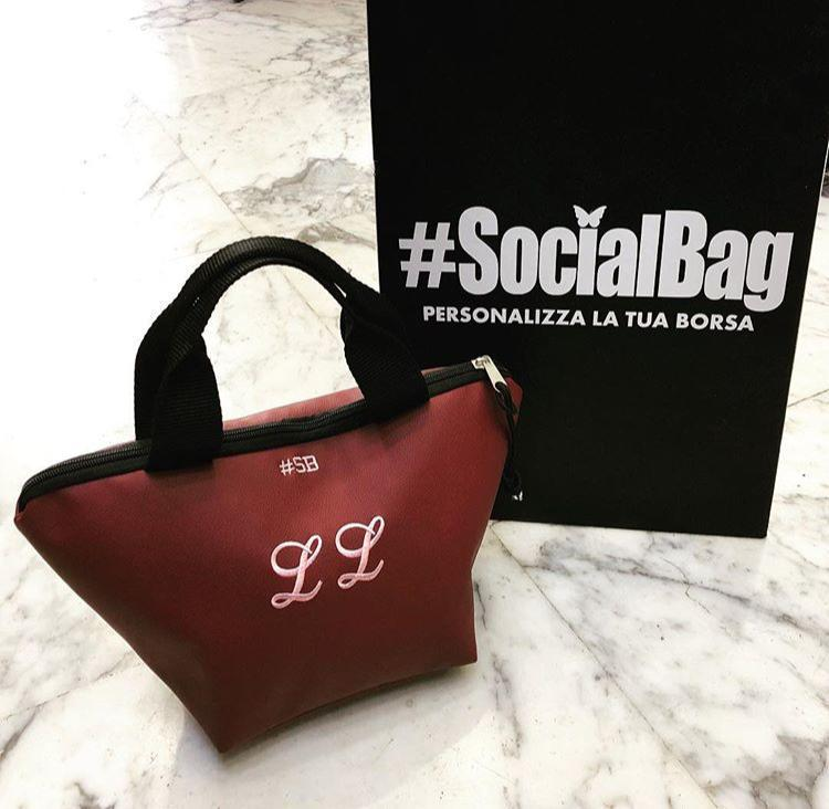 Mini shopping bag - Mini Chapelier SocialBag Ecopelle - Pastello