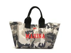 Mini shopping bag Mimetica Bianco e Nero SocialBag Ecopelle