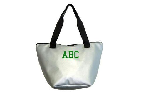 Shopping bag argento SocialBag Ecopelle