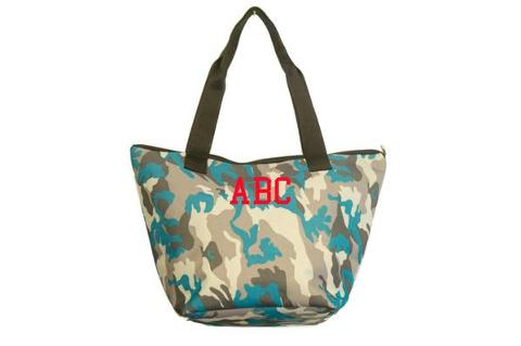 Shopping bag mimetica turchese SocialBag Ecopelle