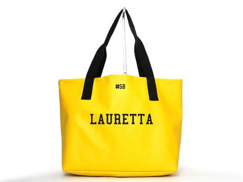 Shopping bag Gialla SocialBag Ecopelle