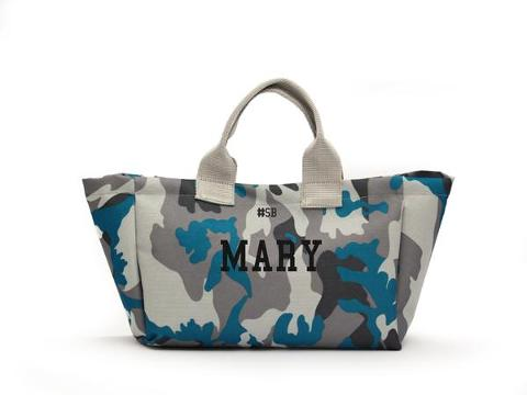 Shopping Bag Mimetica Blu SocialBag Ecopelle