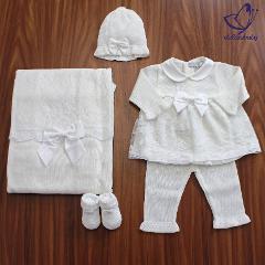 Coordinato con tulle e fiocco Primodì Bebè Primavera/Estate
