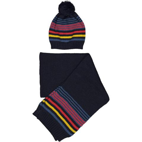 Sciarpa e cappellino rigato Birba Autunno/Inverno