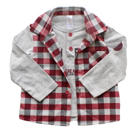 Camicia a quadri con maglia Tucha