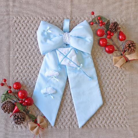 Fiocco Nascita Aquilone e Nuvolette Delizie Baby - Personalizzabile