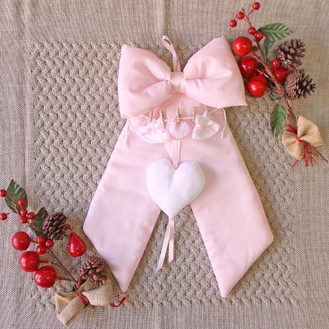 Fiocco Nascita con vestitini Delizie Baby - Personalizzabile