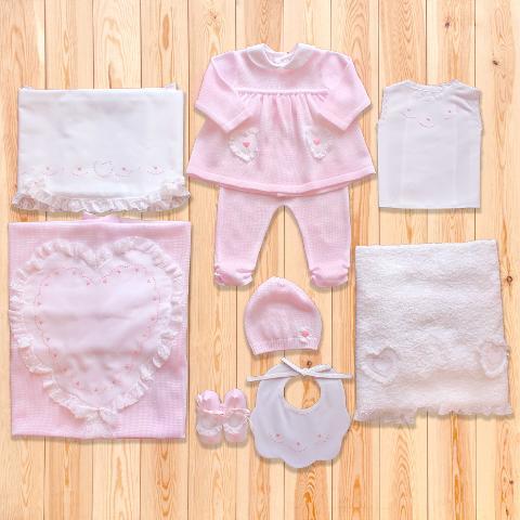 Coordinato Miriam - in filo di cotone - Delizie Baby - Primavera/Estate