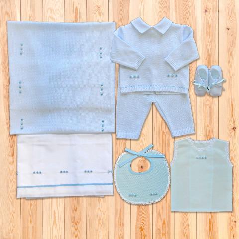 Coordinato Omar - in filo di cotone - Delizie Baby - Primavera/Estate