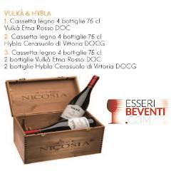 Vino Vulkà Etna Rosso / Hybla Cerasuolo di Vittoria - Nicosia  Cassetta di legno n. 4 bottiglie