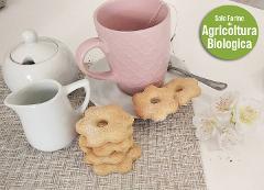 Biscotti Fiori d'Arancio con Arance Biologiche di Grano Duro conf. da 250 gr. (.ca)