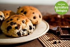 Brioches di grano tenero  con gocce di cioccolato fondente conf. da 4 di 400 gr (.ca)