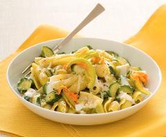 Caserecce con zucchine fritte  La Casetta Verde porzione da circa 300 gr.