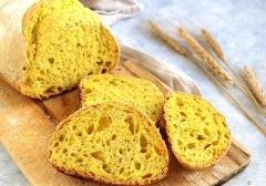 Pane a fette alla Curcuma  a lievitazione naturale di Grano duro confezione da 250 gr. (.ca)