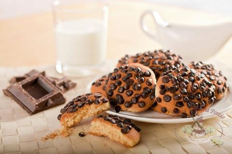 Biscotti Gocce con chicchi di cioccolato fondente Biologico di Grano Duro conf. da 210 gr. (.ca)