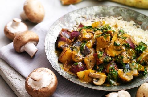 Funghi e patate  al curry