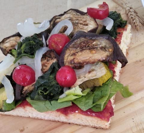 Pizza Vegetariana con verdure a km 0 La Casetta Verde porzione da circa 300 gr.