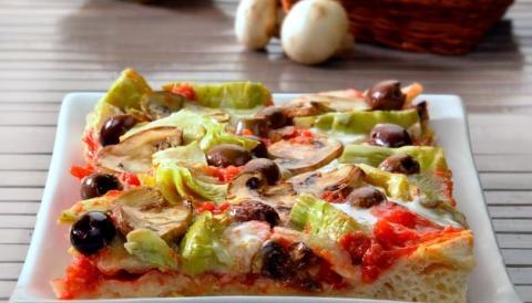 Pizza Capricciosa La casetta verde porzione da circa 300 gr.