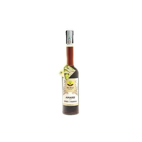 Amaro alle erbe e alla Manna Bergi Bottiglia da 500 cl