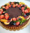 Choco Tart con crema al fondente  La Casetta Verde torta da .ca con 1200 gr.