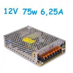 Alimentatore Switching 75w 12v 6,25A