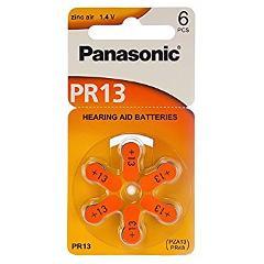 Batteria Zinc Air PR13 265mA per apparecchi acustici Panasonic