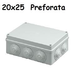 Cassetta 20x25 IP56 C/Gommini Elettrocanali