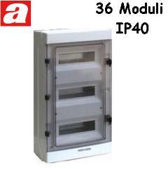 Centralino da Parete 36 Moduli IP65 AVE